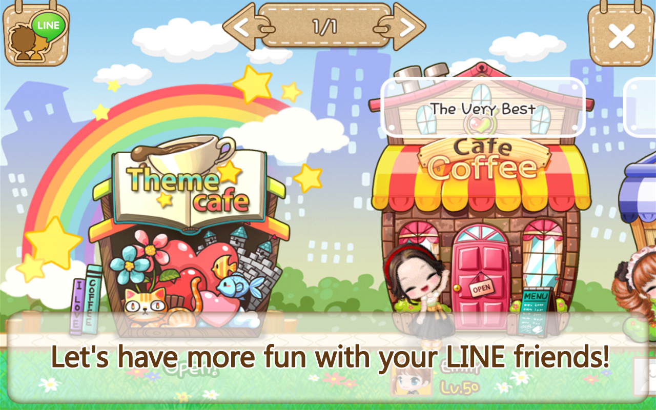LINE I Love Coffee - screenshot