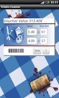 Screenshot of Ticket Counter