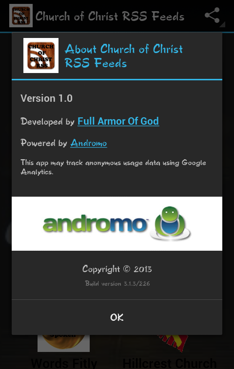 Church of Christ RSS Feeds - screenshot
