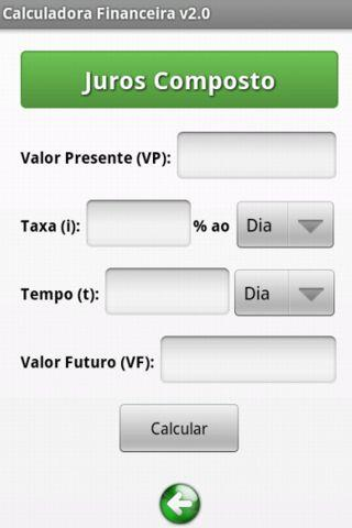 Calculadora Financeira- screenshot