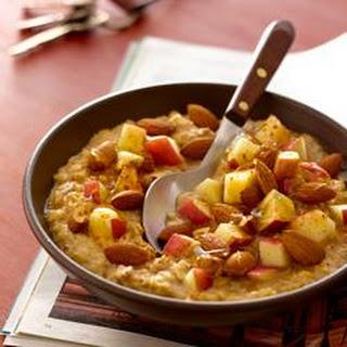 Hearty Apple Almond Oatmeal.