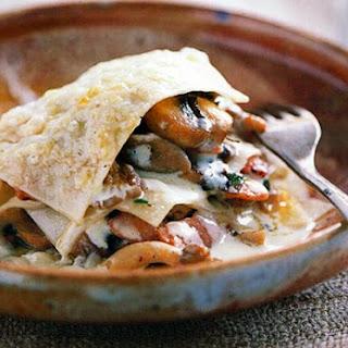Open Mushroom Lasagna