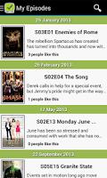 Screenshot of TV Calendar