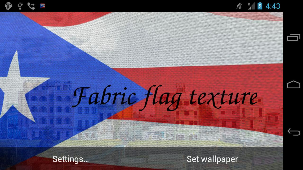 3D Puerto Rico Flag LWP - screenshot