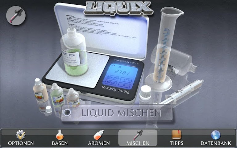 android LIQUIX Liquidrechner & Manager Screenshot 4