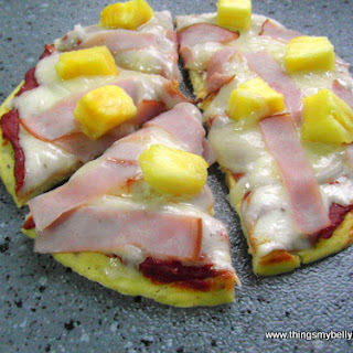 GF Thin Crust Hawaiian Pizza