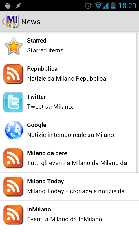 MIlano- screenshot