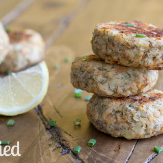 Baked Parsnip Salmon Cakes.