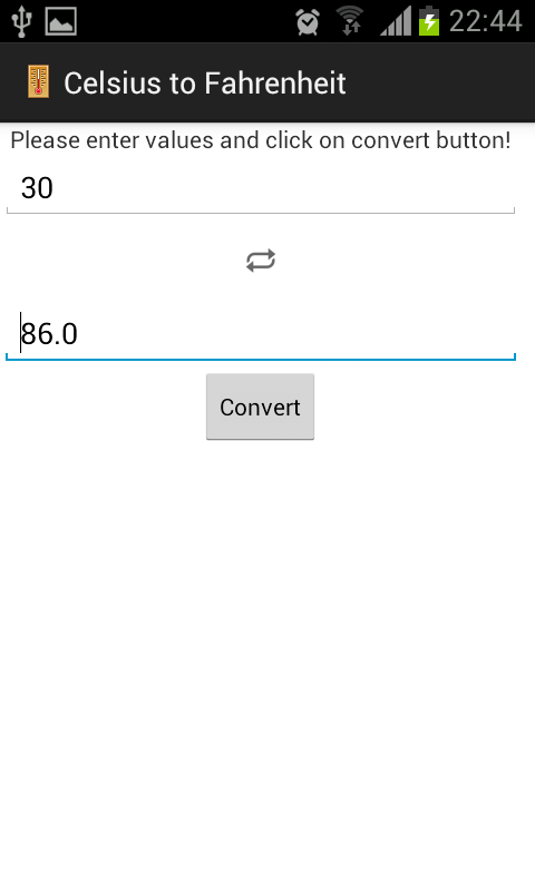 Celsius Converter - screenshot