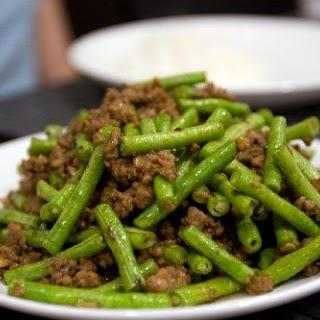 Minced Pork and Long Beans Stir Fry