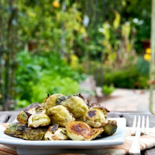 Roasted Brussels Sprouts w/ Balsamic Vinegar.