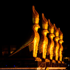 by Titus Criste - Buildings & Architecture Statues & Monuments ( night photography, statues, d5200, hurghada, nikon, egypt,  )