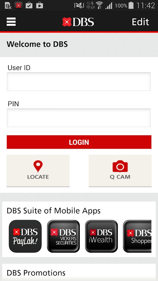DBS mBanking - screenshot