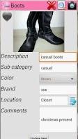 Screenshot of Shoes Closet