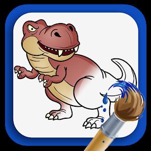 着色书:恐龙 教育 App LOGO-硬是要APP