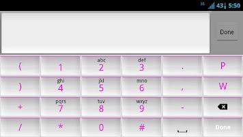 Screenshot of White and Pink Keyboard Skin