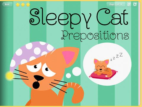 Sleepy Cats Prepositions