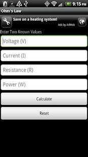 Electrical Tools Lite- screenshot thumbnail