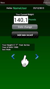 Weight Recorder BMI free - screenshot thumbnail
