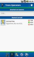 Screenshot of Info Operatore