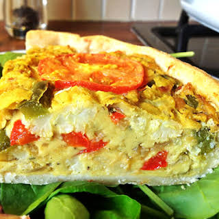 """The Gourmet Vegan """"Can't tell the difference"""" Quiche."""