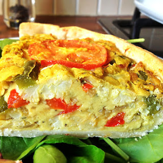 "The Gourmet Vegan ""Can't tell the difference"" Quiche."