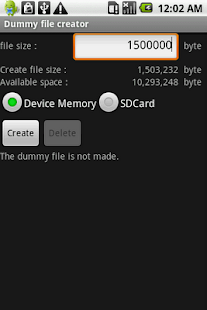 Dummy file creator- screenshot thumbnail