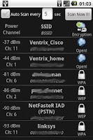 Screenshot of WiFi Scanner