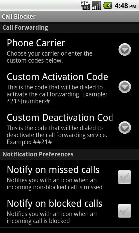 Call Blocker Gold - screenshot