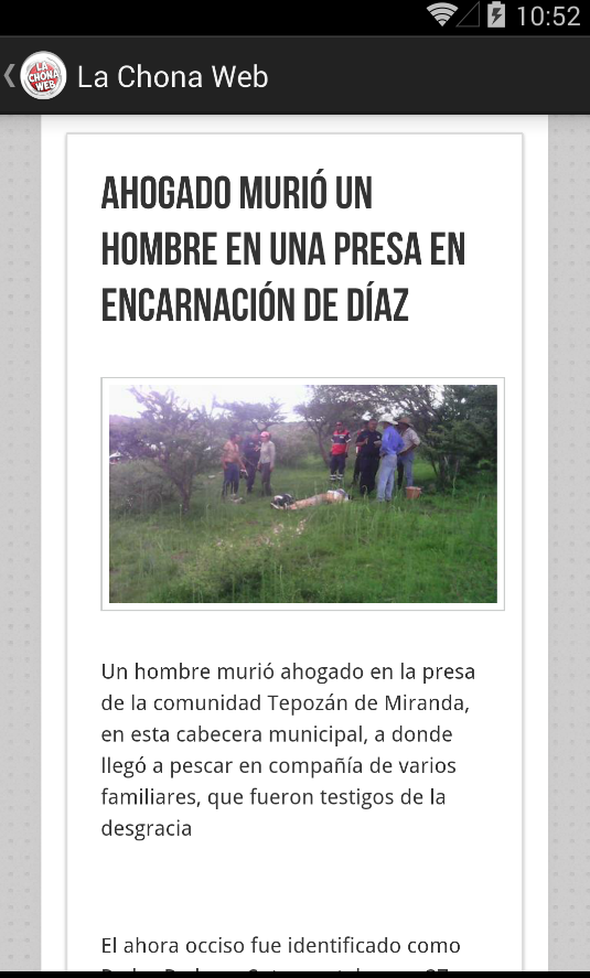 La Chona Web- screenshot