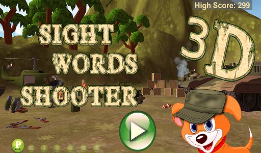 Sight Words Shooter 3D