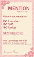 Screenshot of FlowerLove Theme GO SMS