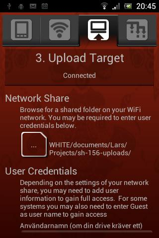 Sweet Home WiFi Picture Backup - screenshot