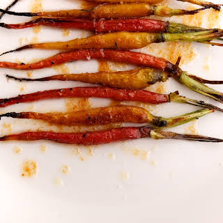 Rosemary Roasted Baby Carrots with Honey Brown Butter.