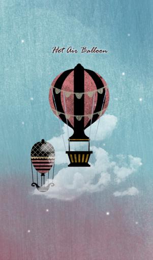 열기구 풍선 카카오톡 테마