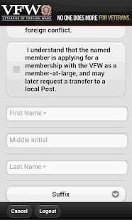 VFW Mobile Recruiter- screenshot thumbnail