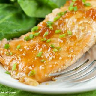 Apricot Glazed Salmon.