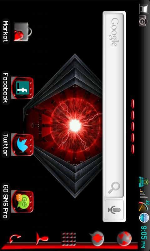 APEX/Go Launcher Razr Theme - screenshot
