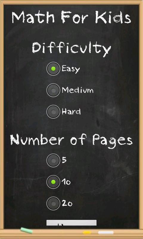 Math for kids- screenshot