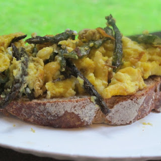 Roasted Asparagus & Scrambled Eggs.