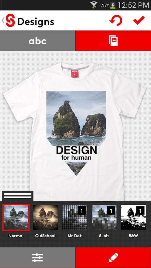 T-shirt design - Snaptee - screenshot