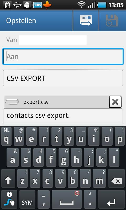 Contacts / SMS /LOG CSV Export - screenshot