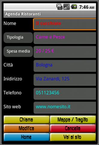 Agenda Ristoranti - screenshot