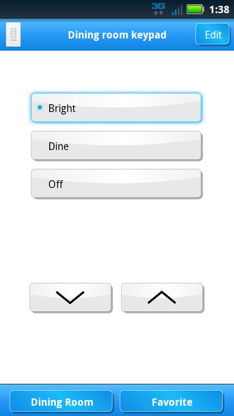 Lutron Home Control+- screenshot