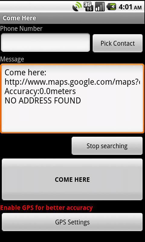 Come here- screenshot