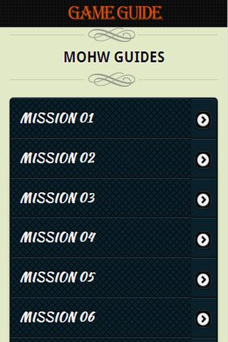 Medal of Honor 2012 Guide