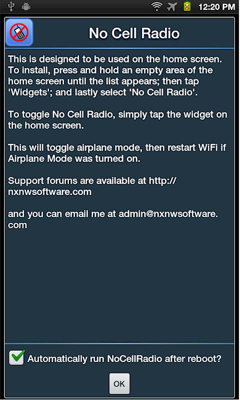 No Cell Radio- screenshot
