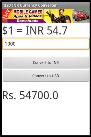Usd Inr Currency Converter