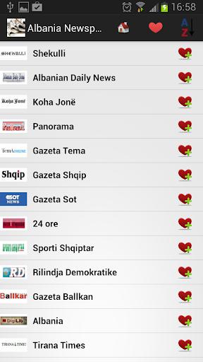 Albania Newspapers And News