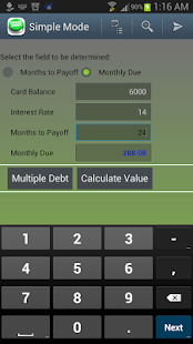 Debt Payoff Lite - screenshot thumbnail